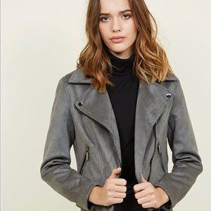 NEW LOOK Dark Grey suede Jacket